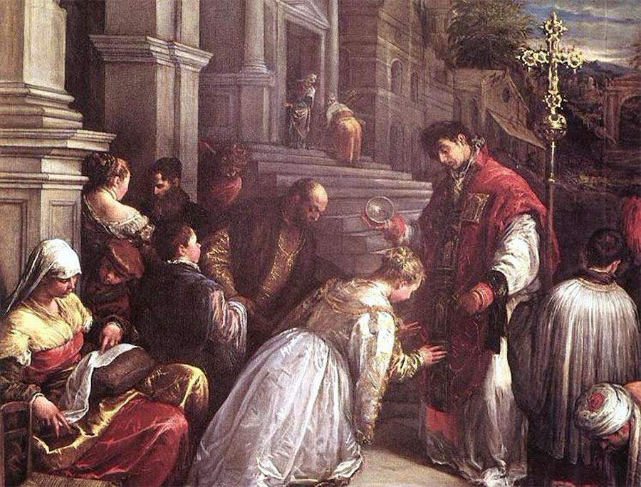 Saint Valentin baptise Sainte Lucile